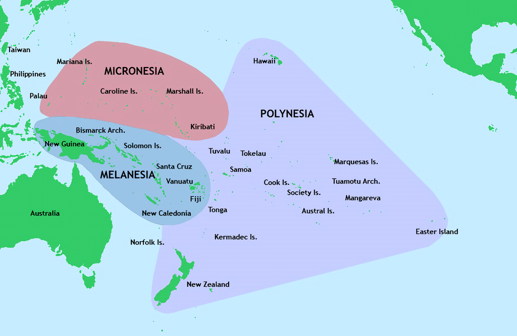 The Map of South Pacific Socio-Cultural Regions